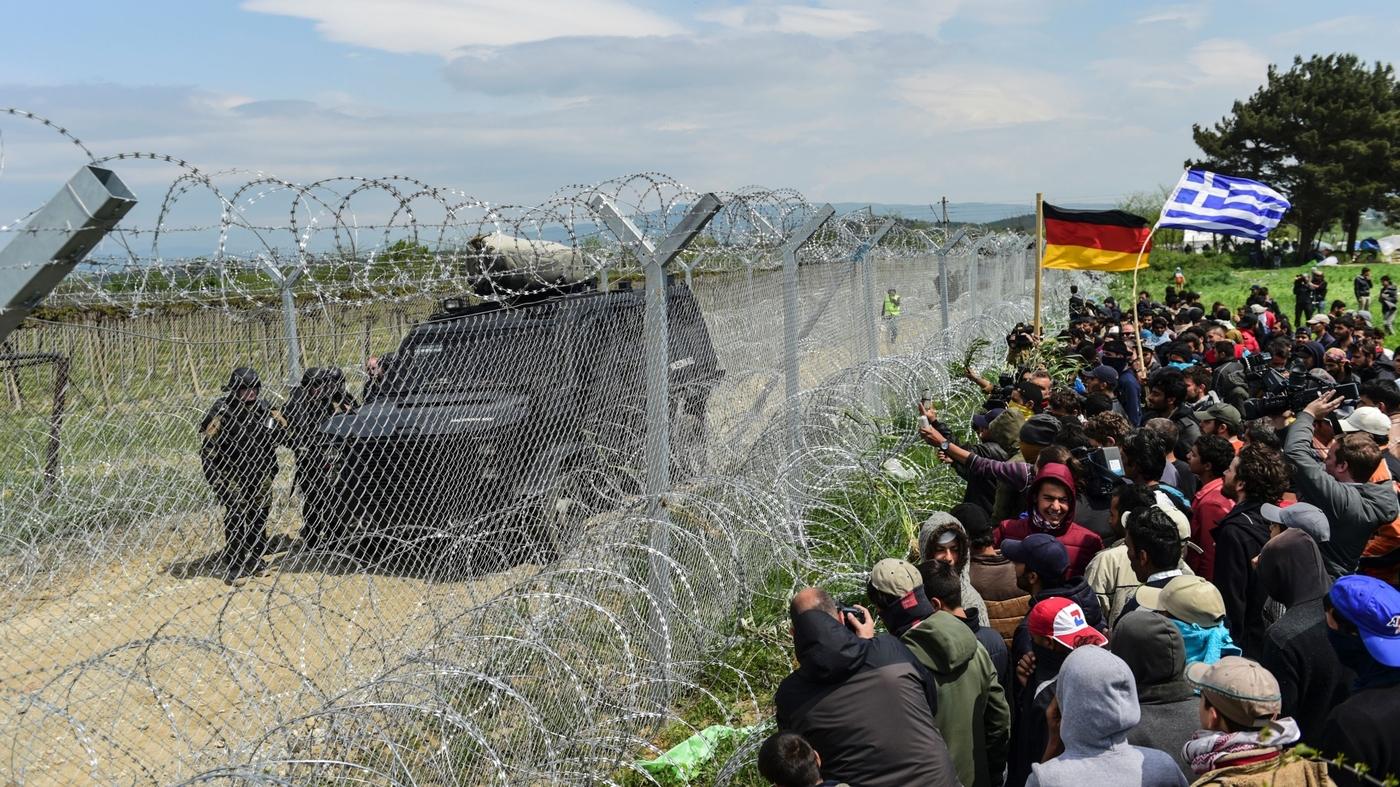 At Macedonian Border, Tensions Between Migrants And Police