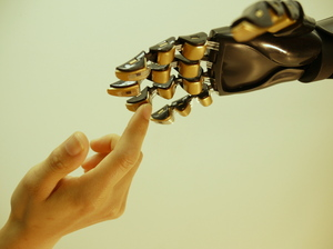 Zhenan Bao, a chemical engineer at Stanford University, is working to invent an artificial skin from plastic that can sense, heal and power itself. The thin plastic sheets are made with built-in pressure sensors.