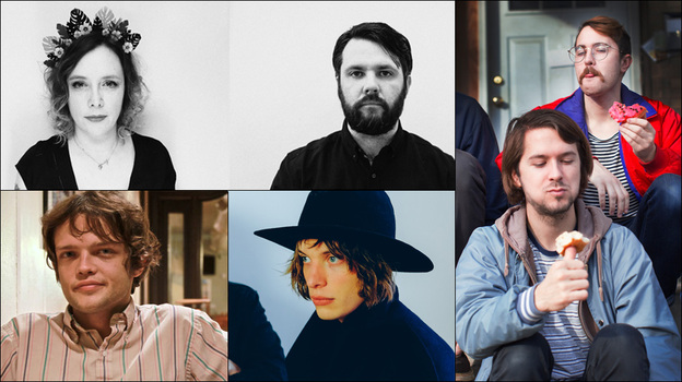 Clockwise from upper left: Minor Victories, members of Free Cake For Every Creature, Yak, William Tyler (Courtesy of the artists)