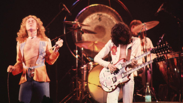 "Robert Plant and Jimmy Page of Led Zeppelin are defendants in a copyright lawsuit that accuses their band of lifting music from the song ""Taurus"" by the Los Angeles band Spirit. (WireImage)"
