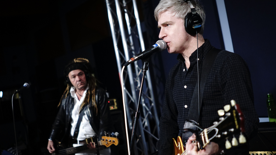 Nada Surf at the World Cafe performance studio. (WXPN)