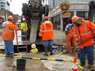 Chicago's North Broadway Street has been undergoing water main upgrades in the past few weeks, with more work scheduled this year. The upgrades are part of the city's 10-year plan to replace 900 miles of water pipes.