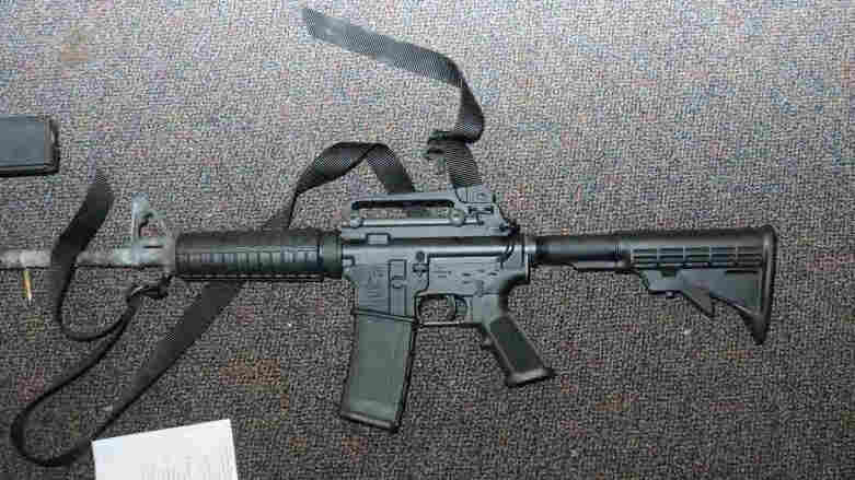 A handout photo from the Connecticut State Police shows the Bushmaster rifle used in the December 2012 shootings at Sandy Hook Elementary School in Newtown, Conn.