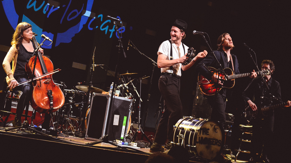 The Lumineers perform for World Cafe at World Cafe Live in Philadelphia. (WXPN)