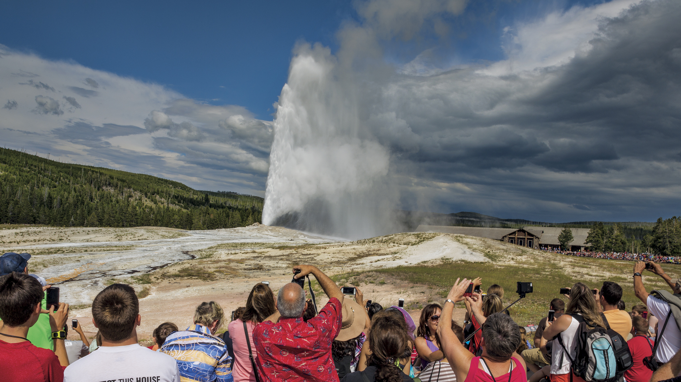 Yellowstone volcano attracts tourists from all over the world