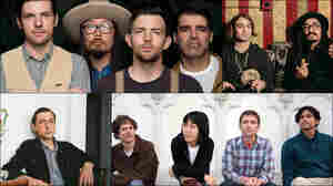 Clockwise from upper left: The Avett Brothers, The Low Anthem, Deerhoof, Jaye Bartell