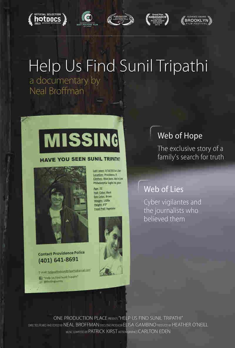 Movie Poster for 'Help Us Find Sunil Tripathi'