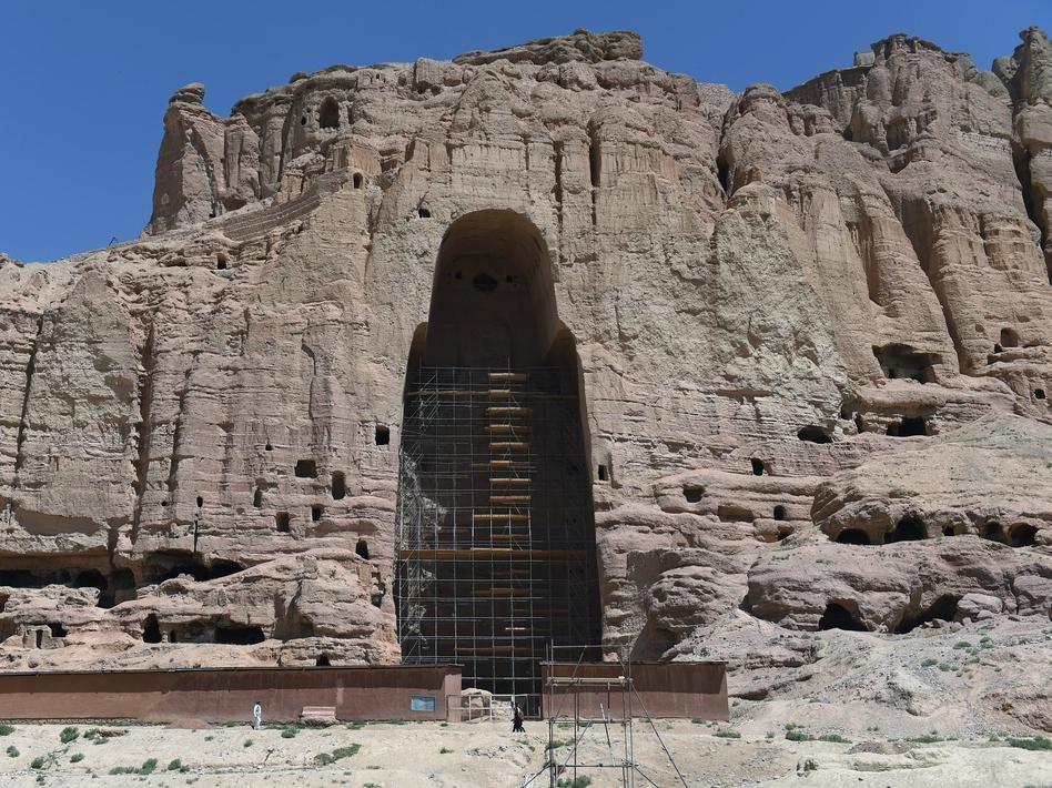 painting at bamyan in afghanistan predating
