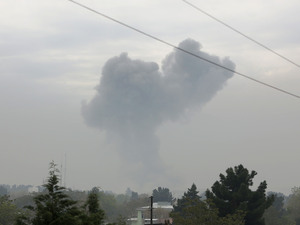 Smoke rises after a suicide attack in Kabul, Afghanistan, Tuesday.