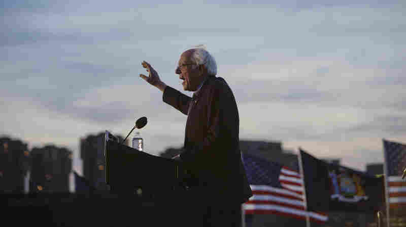 Democratic presidential candidate Bernie Sanders at a campaign event in Queens on Monday.