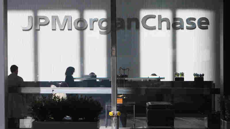 The JPMorgan Chase headquarters is seen in New York. Sen. Bernie Sanders has said it and other major banks are too big and powerful.