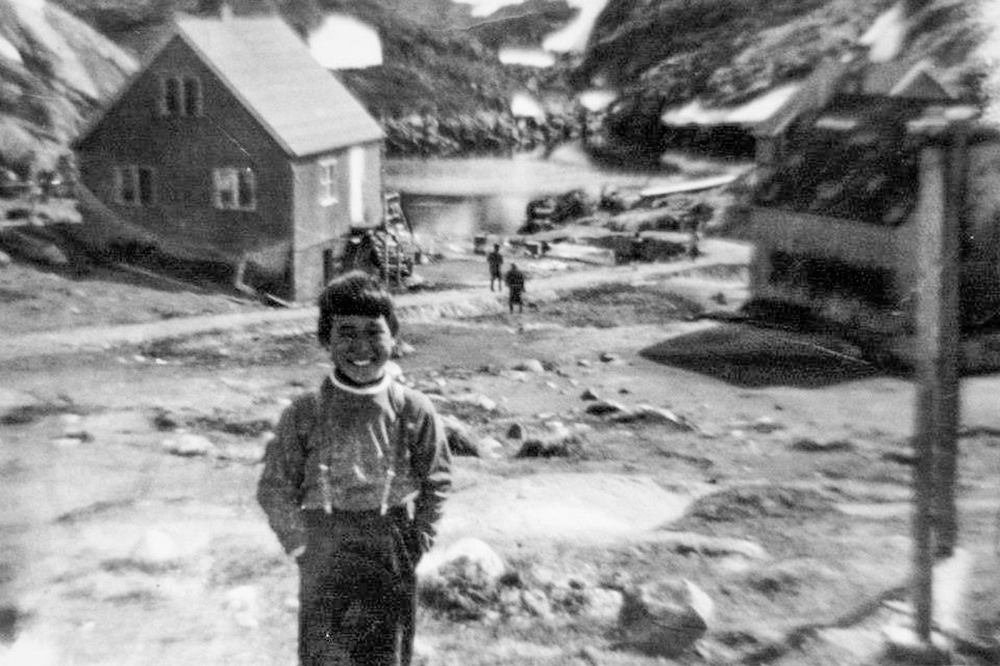 Anda Poulsen as a young boy in the 1960s in Kangeq.