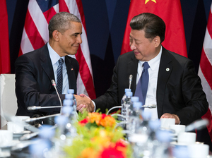 President Obama met with China's president, Xi Jinping, at an event linked to the international climate conference held late last year outside Paris.