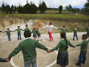 At a one-room school in the Colombian Andes, students learn convivencia -- which means, more or less, the art of living together.