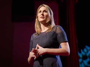"Aspen Baker speaking at TED Women about how to be ""pro-voice."""