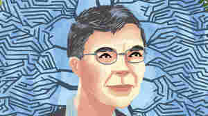 Illustrated portrait of Carl Wieman