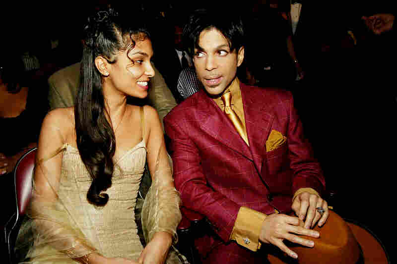 Prince and his wife, Manuela Testolini, backstage at the 35th Annual NAACP Image Awards in Hollywood, Calif., in 2004.