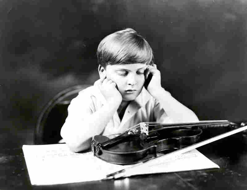 Yehudi Menuhin with his 1733 Prince Khevenhüller Stradivarius. Menuhin received the violin in early 1929 when he was 12. It became his main instrument for 20 years.
