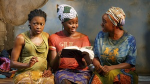 Pascale Armand, Lupita Nyong'o and Saycon Sengbloh in a scene from Eclipsed, now on Broadway.