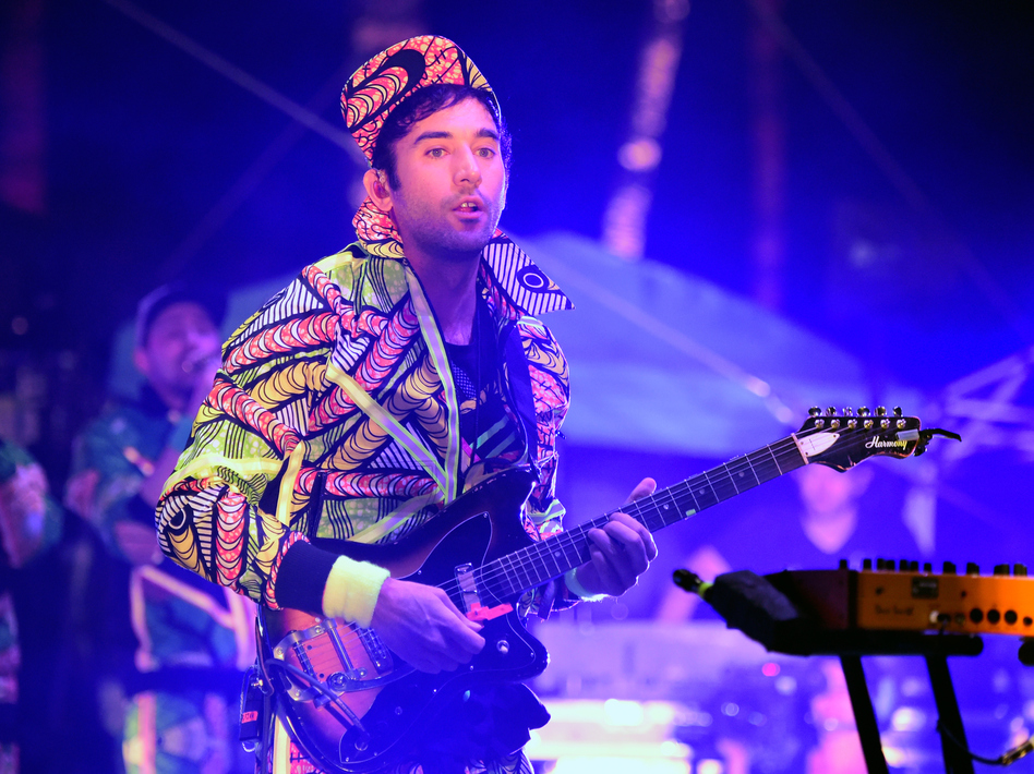 Sufjan Stevens performs onstage at the Empire Polo Club in Indio, California on April 15, 2016 at the Coachella Valley Music & Arts Festival.