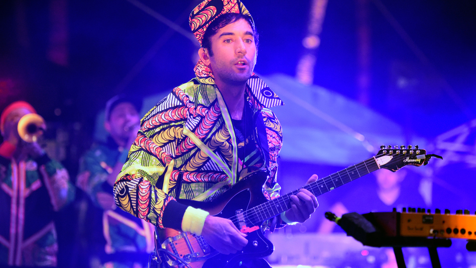Sufjan Stevens performs onstage at the Empire Polo Club in Indio, California on April 15, 2016 at the Coachella Valley Music & Arts Festival. (Getty Images)