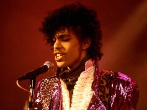 "Prince performs at the Ritz Club during his ""Purple Rain"" tour on Sept. 13, 1985."