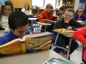 A social studies class at Campton Elementary School in Wolfe County, Ky.