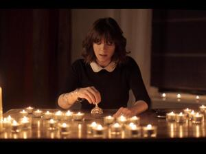 """Rosie Doonan in the video for """"Wrapped,"""" a new song by John Metcalfe."""