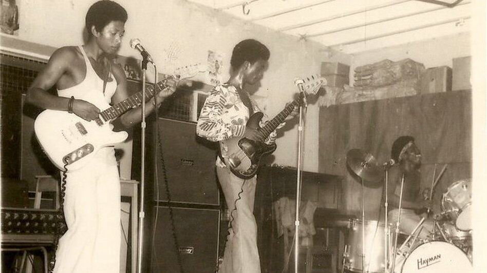 Warhead Constriction, a group of high-schoolers from Lagos, is one of many rock bands of the 1960s and '70s featured in the new book series Wake Up You! The Rise and Fall of Nigerian Rock, 1972-1977. (Courtesy of Now-Again Records)