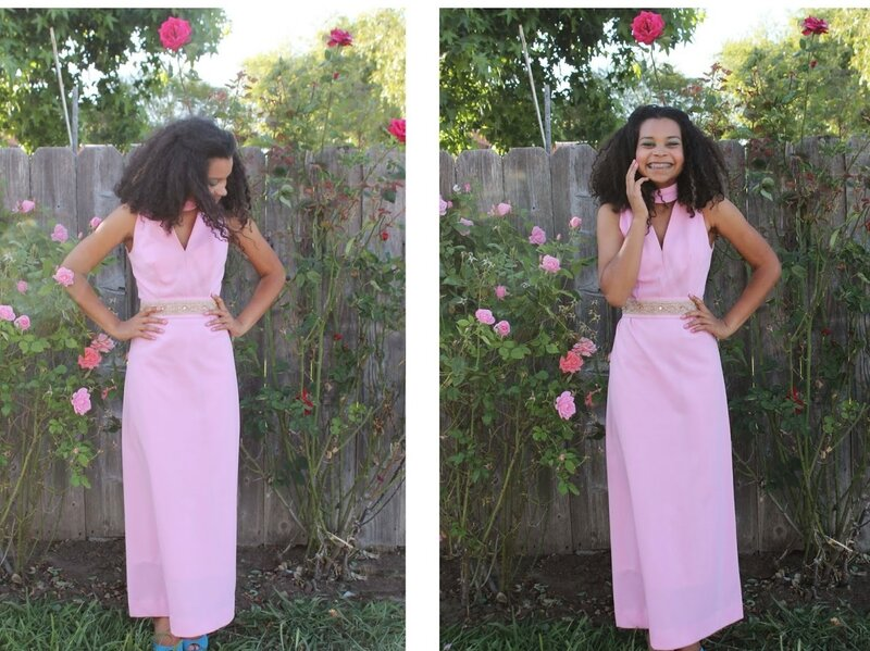 Teen fashion blogger Justina Sharp goes vintage in this prom dress.