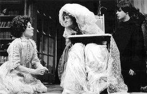 Streep (center) played 80-year-old Constance Garnett in The Idiots Karamazov at the Yale School of Drama.