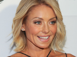 Kelly Ripa, seen here earlier in April, returned Tuesday to Live with Kelly and Michael after a dust-up with her bosses.