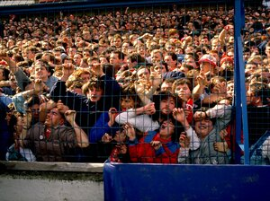 Liverpool supporters were crushed against a barrier in 1989, in what became Britian's worst sports disaster. Some 96 fans died in the incident at the Hillsborough Stadium in Sheffield, England.