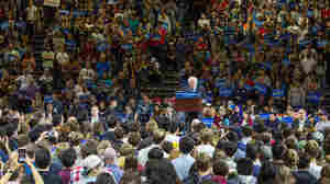 Vermont Sen. Bernie Sanders speaks at a campaign rally in Poughkeepsie, N.Y.