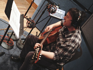 Paul Burch in the World Cafe performance studio.