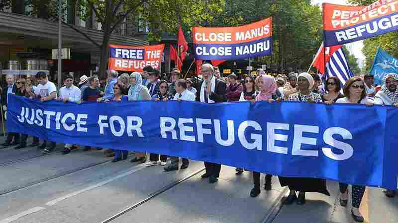 Thousands of people in Melbourne, Australia, took to the streets on March 20 during a protest demanding that refugees not be sent to Manus Island in Papua New Guinea or to the republic of Nauru.
