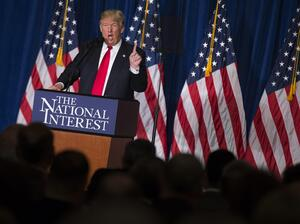 Donald Trump, the front-runner for the Republican presidential nomination, gave an outline of his worldview and foreign policy goals in an address in Washington Wednesday.