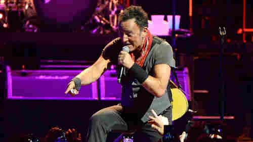 """At the Barclays Center in Brooklyn on Saturday night, Bruce Springsteen and the E Street Band paid tribute to Prince with a cover of """"Purple Rain."""""""