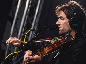 Andrew Bird in the World Cafe studio.