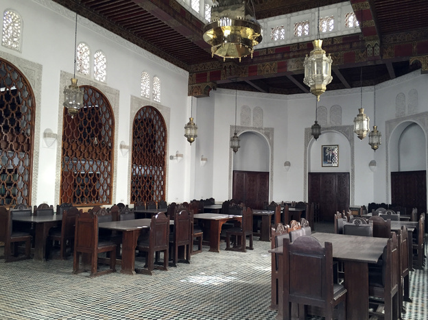 The reading room of the Qarawiyyin Mosque in Fez is part of a four-year restoration project.