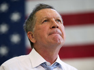 Republican presidential candidate, Ohio Gov. John Kasich, speaks during a town hall at Thomas farms Community Center on Monday in Maryland.