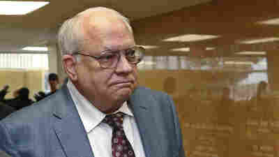 Robert Bates arrives for his arraignment at the Tulsa County Courthouse in Tulsa, Okla., on April 21, 2015. Bates has been convicted of second-degree manslaughter.