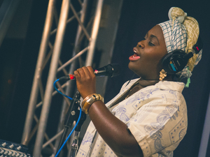 Dayme Arocena in the World Cafe Studio