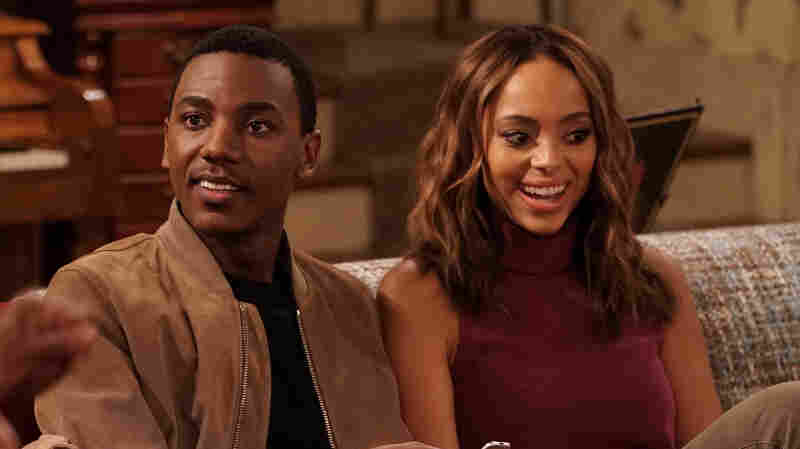 "Jerrod Carmichael (shown with actress Amber Stevens West)   says that the family debates on The Carmichael Show are inspired by real life. ""I grew up in a household that's very argumentative,"" he explains."