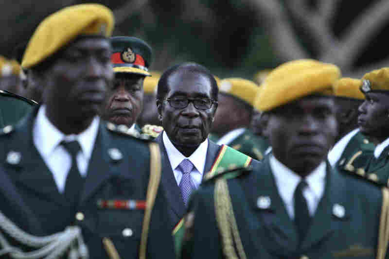 Zimbabwean President Robert Mugabe at his inauguration ceremony at State house in Harare, Zimbabwe, 2008.