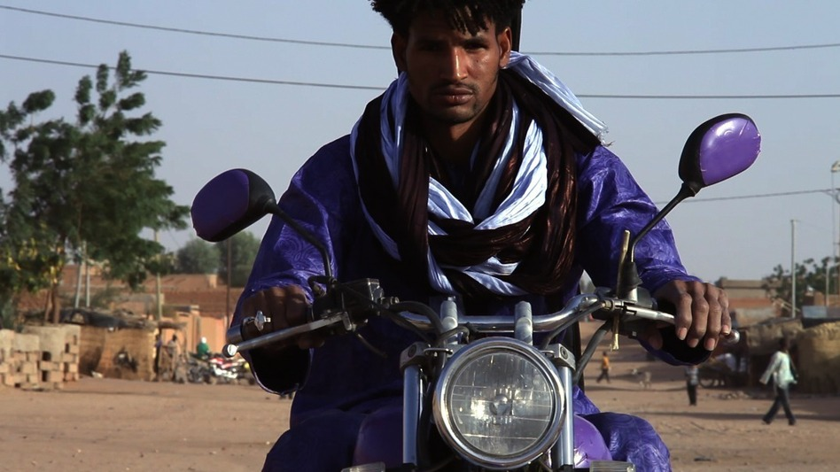 Mdou Moctar, a musician from Agadez, Niger, became the star of a Tuareg remake of Purple Rain. (Courtesy of Christopher Kirkley)