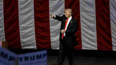 Republican presidential candidate Donald Trump campaigns in Costa Mesa, Calif., on Thursday.