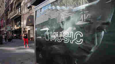 An advertisement for Apple Music in New York City in 2015.