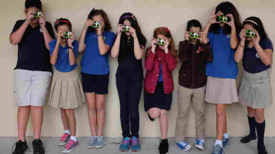 Mrs. D-B's class shooting photos.