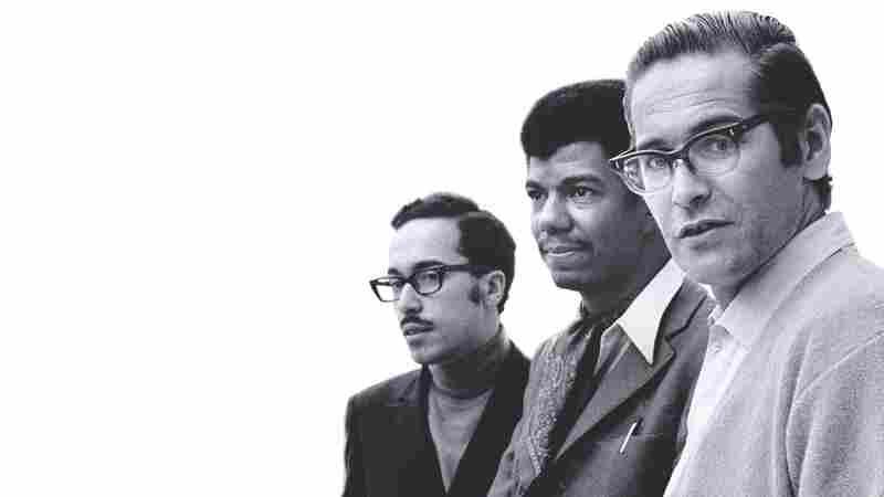 The Bill Evans Trio (Eddie Gomez, Jack DeJohnette and Bill Evans) in 1968.